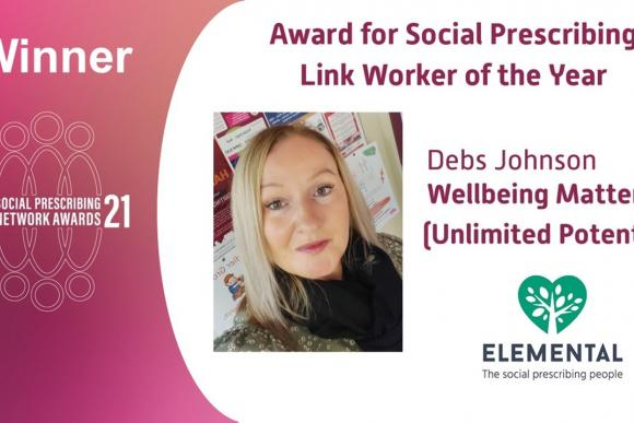 Deb's Johnson Link Worker of the year 2021